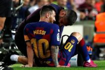 Barca squeak past Villarreal as Messi goes off injured
