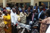Hohoe Municipal Assembly members receive motorbikes