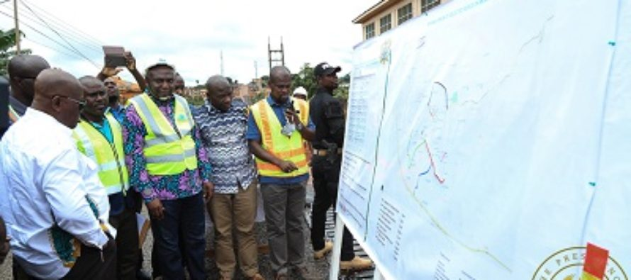 President begins Eastern Region tour, inspects road project