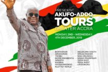 Akufo-Addo begins 3-day tour of Greater Accra Region Monday