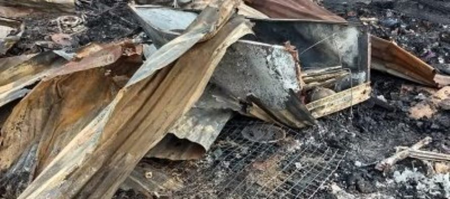 Fire guts wooden structures at 'Shangai'