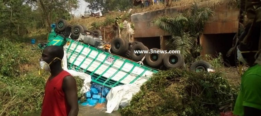 Danger! Tano River poisoned with truckload of acid batteries