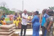 VR GWCL ladies donate building materials to roof Vodzakpo Roman Catholic School