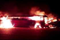 At least 30 burnt to death in Kintampo Highway accident
