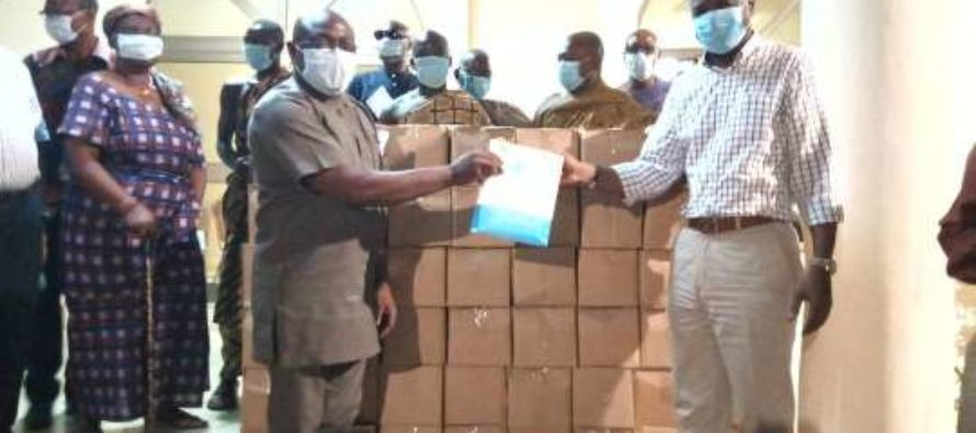 COVID 19: Togbe Afede donates sanitizers, GH¢100,000.00 to two hospitals