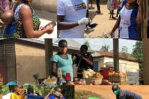Group distributes face masks to residents in Hohoe
