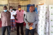 MP supports farmers in Krachi East with agrochemicals
