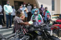 V/R: NDC equips youth with motorbikes to intensify education on COVID-19
