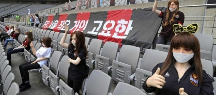COVID-19 football: FC Seoul apologises for 'sex dolls' in stands