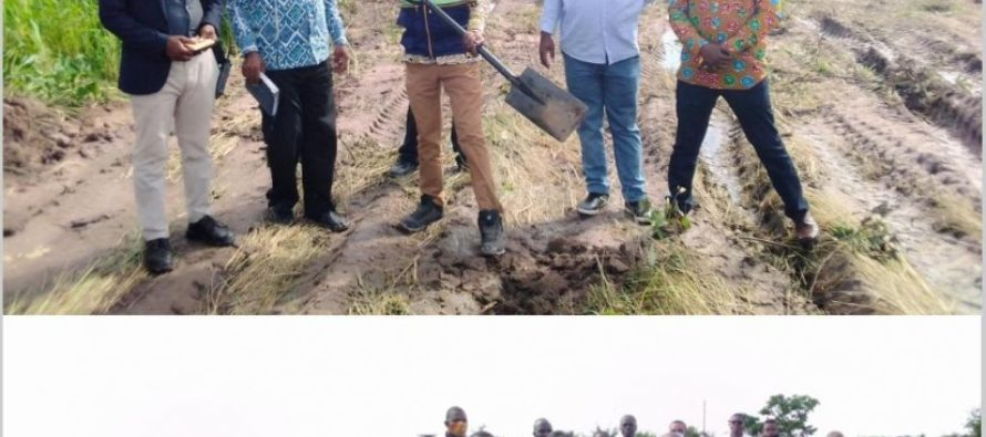 Hohoe MCE cuts sod for construction of rice processing factory