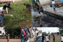 Sunyani: COVID-19 Taskforce enforces nose mask wearing with cleaning exercise