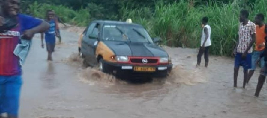 Rain cuts off four communities from Adaklu District and Ho