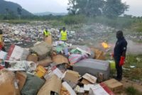 GRA destroys illegal goods seized in the Volta region
