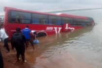 VIP bus plunges into River Oti at Dambai crossing