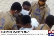 Police calm protest in KNUST SHS following death of student after alleged neglect over Covid-19 fears