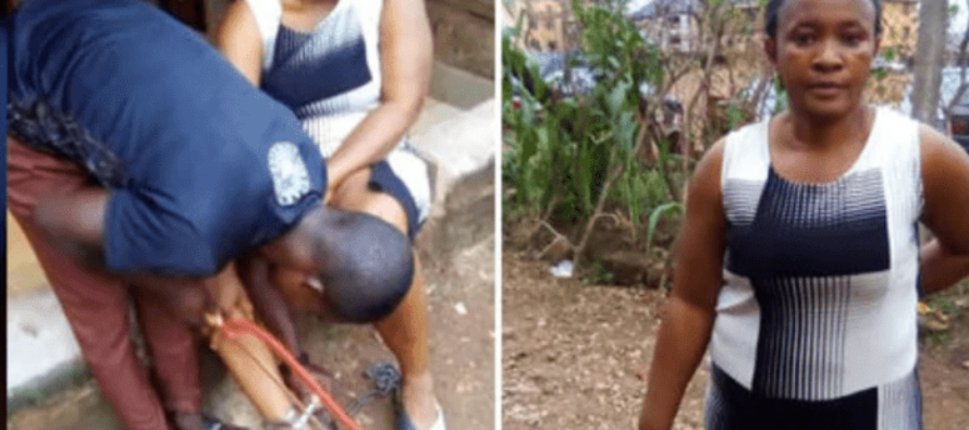 Woman rescued after being chained to pillar for 10 hours by her husband [Photos]