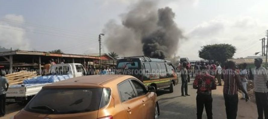 V/R: Calm returns to Juapong after shooting to death of businessman