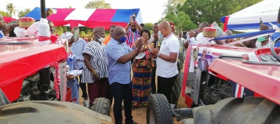 Ketu South NPP Candidate inaugurates tractor service for farmers