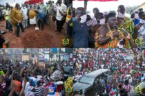 Akufo-Addo cuts sod for Tuobodom town roads set to be completed Sept. 2021