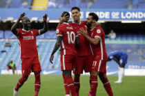 Mane double helps Liverpool overcome 10-man Chelsea