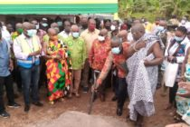 V/R: Akufo-Addo cuts sod for work to resume on UHAS roads