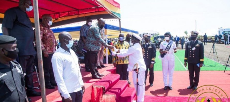 President commissions Naval Training Command in Volta Region