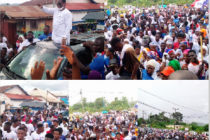 Supporters defy downpour to accompany Amewu to file nomination