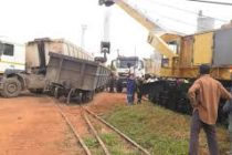 Train collides with articulated truck in Takoradi