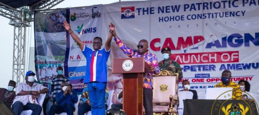 Hohoe: Akufo-Addo describes Amewu as outstanding Minister, excellent candidate for Parliament