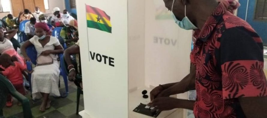 Central Tongu EC trains visually impaired voters on 'tactile Jacket' use