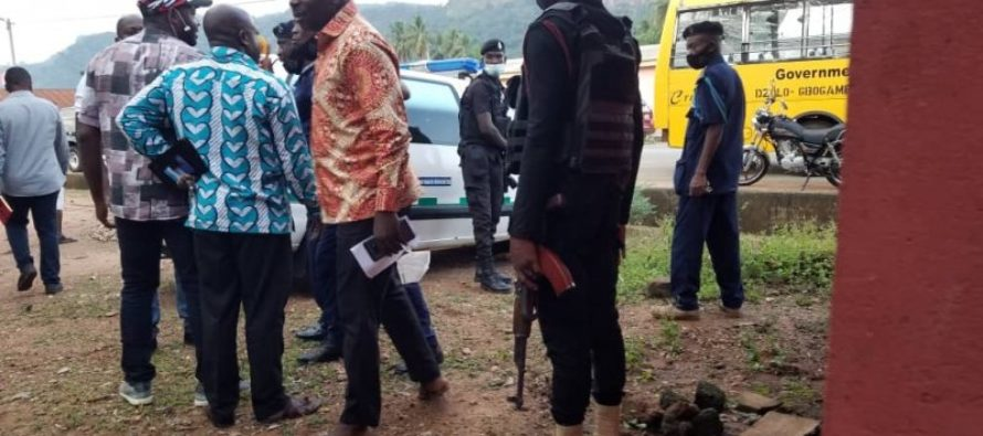 Dzolokpuita (V/R: NDC supporters accuse masked policeman of being a vigilante