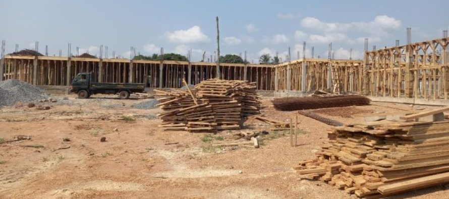 MCE, Stakeholders inspect ongoing construction works on Hohoe market