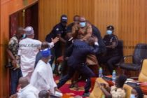 Carlos Ahenkorah snatches ballot papers during Speaker of Parliament election [Photos]