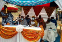 Nyagbo Paramount Chief encourages subjects to unveil themselves for COVID-19 vaccine