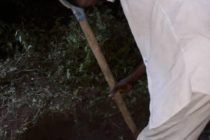 Man grabbed for burying son alive