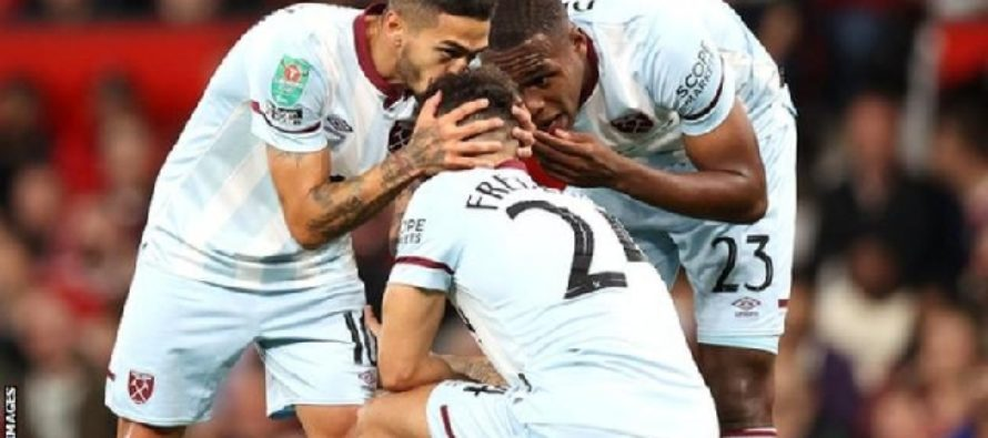West Ham knock out Man Utd in EFL Cup