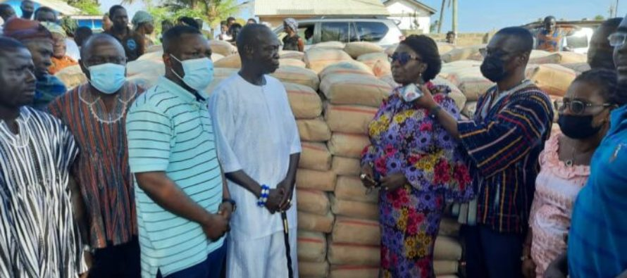 Ketu South: Mahama donates 500 bags of cement to tidal wave victims